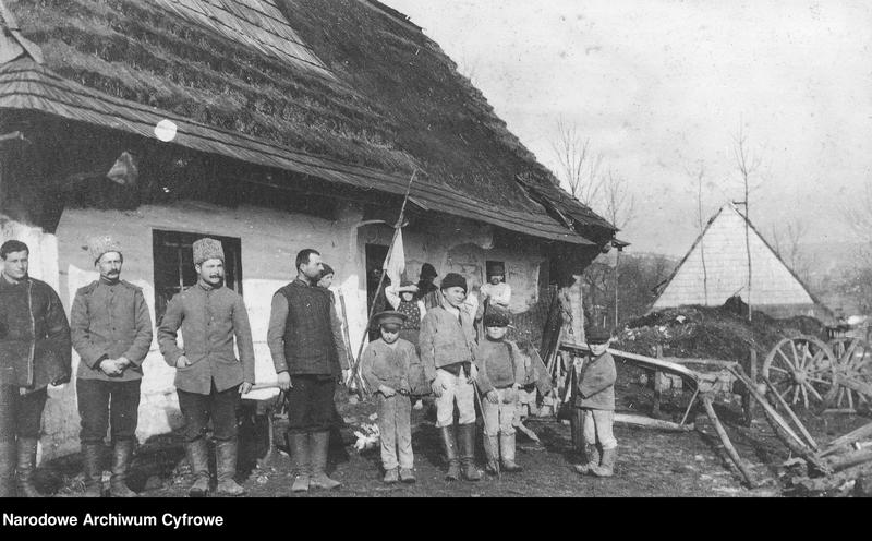 """Obraz z jednostki """"Punkt medyczny rosyjskiego 12 Dywizjonu Artylerii Moździerzy w Galicji lub na Słowacji"""""""