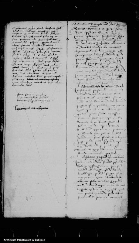 "Obraz 8 z jednostki ""Acta seu liber inscriptionum villae Conopnicza --"""