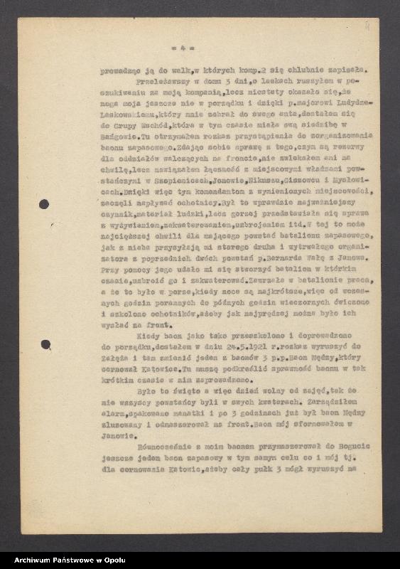 """Obraz 6 z jednostki """"[Mańka Ryszard """"Dowódca Baonu 16 p. Rysia""""]"""""""