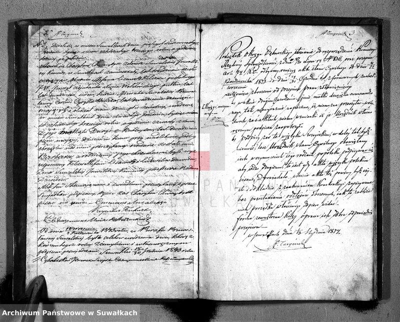 """image.from.unit """"Duplikat Akt Stanu Cywilnego Greko Rosyyskich Parafii Suwalskiey od dnia 4 Października / 22 Września do dnia 19/31 Grudnia 1843 roku."""""""