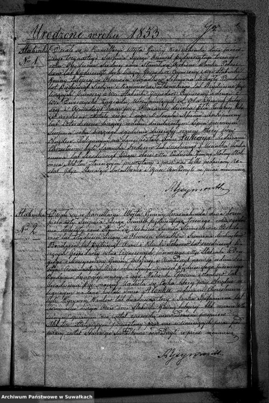 """image.from.unit """"Duplikat Akt Stanu Cywilnego Urodzonych Zaślubionych i Zmarłych Sekty Filiponów z Gminy Krasnohruda na 1853 rok"""""""