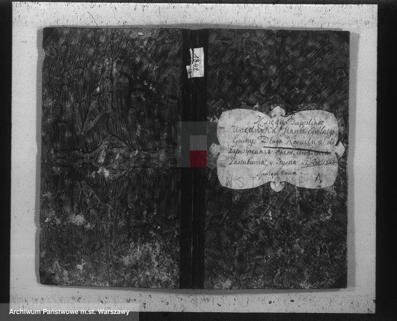 """Obraz 2 z jednostki """"Akta urodzeń, małżeństw i zgonów"""""""