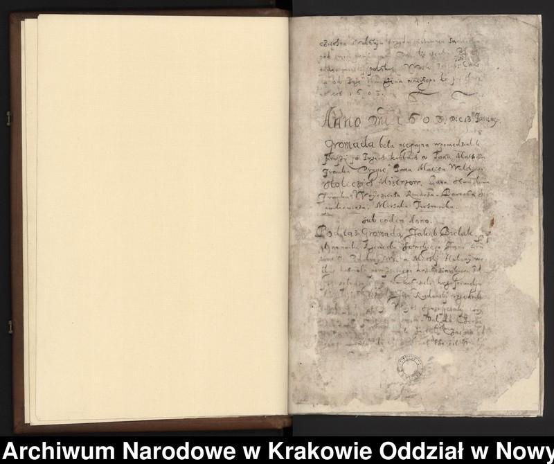 """Obraz 11 z kolekcji """"Fragment księgi cechu szewskiego w Starym Sączu z lat 1603-1709"""""""