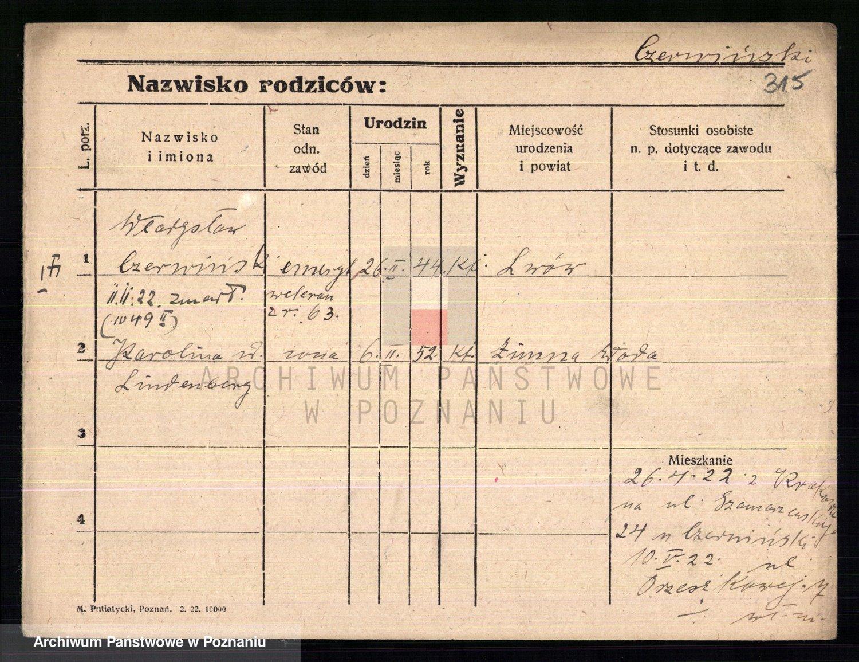 Skan z jednostki: Czerniewicz - Czubachowski