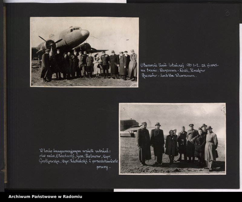 """Obraz 4 z jednostki """"[Album fotograficzny dokumentujący reaktywowanie krajowych połączeń lotniczych przez Polskie Linie Lotnicze """"Lot""""]"""""""