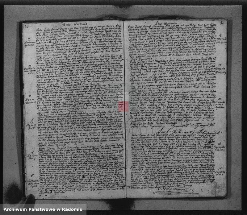 """Obraz z jednostki """"Akta cywilne gminy Świereżowskiey roku 1813"""""""