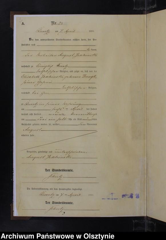 """Obraz z jednostki """"Geburts-Neben-Register Nr 23 - 36"""""""