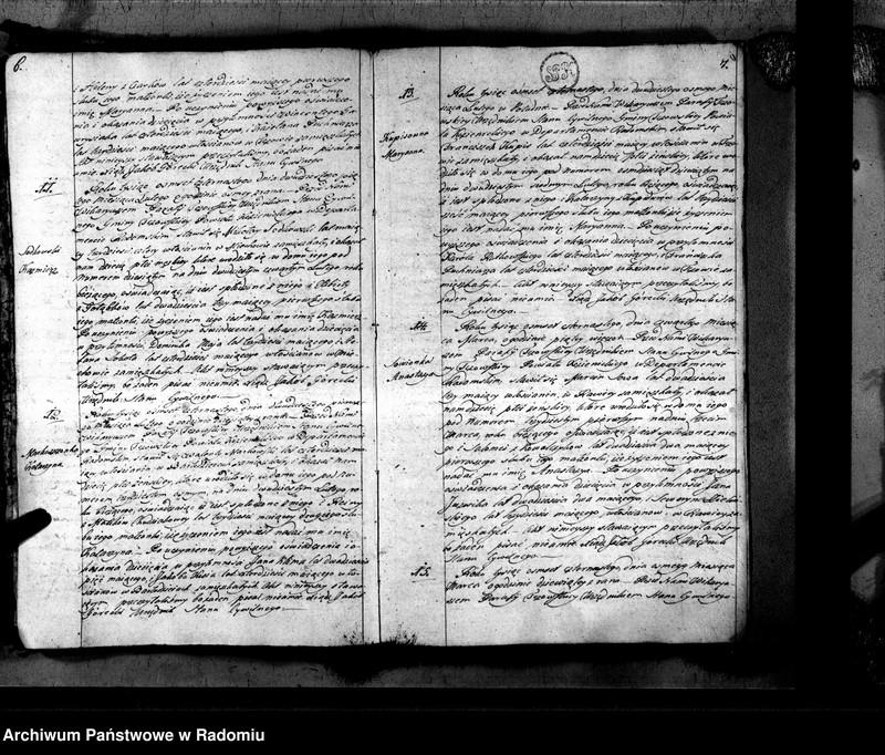 """Obraz 6 z jednostki """"Tczów 1814 [Duplikat akt urodzonych, zaślubionych i zmarłych]"""""""
