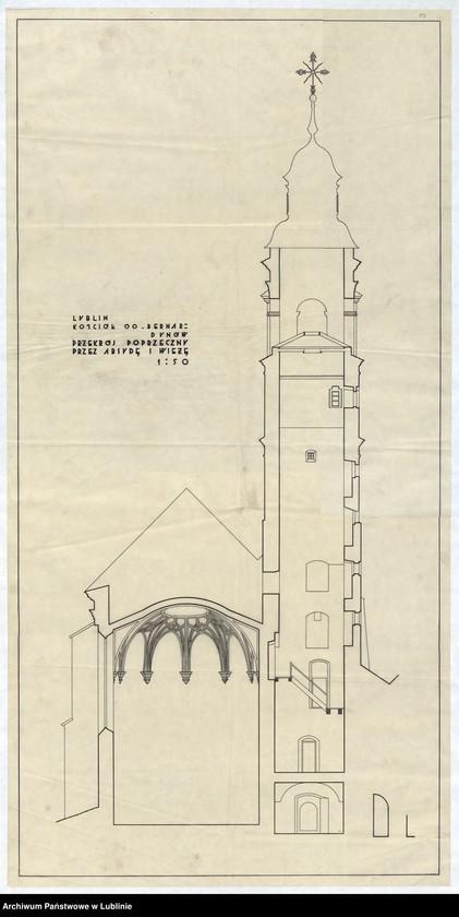 """Obraz 14 z jednostki """"[ Plan kościoła OO. Bernardynów w Lublinie]"""""""