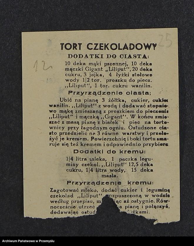 """Obraz 9 z kolekcji """"Przepisy kulinarne z kalendarza z 1935 roku"""""""