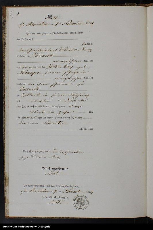 """image.from.team """"Urząd Stanu Cywilnego w Olbrachtowie pow. iławski ( dawny pow. suski )"""""""