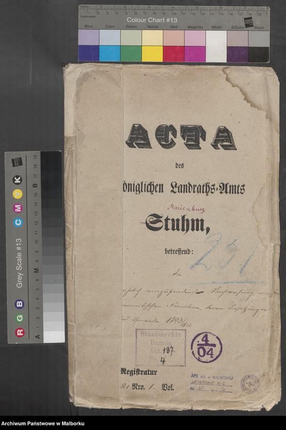 """Obraz 2 z jednostki """"Acta betrdie jährlich einzusendende Nachweisung von den mennonitischen Familien, deren Besitzung"""""""