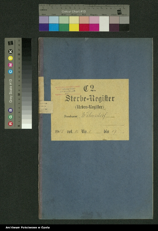 "image.from.unit.number ""Sterbe-Register (Neben-Register) Standesamt Wilmsdorf 1908 