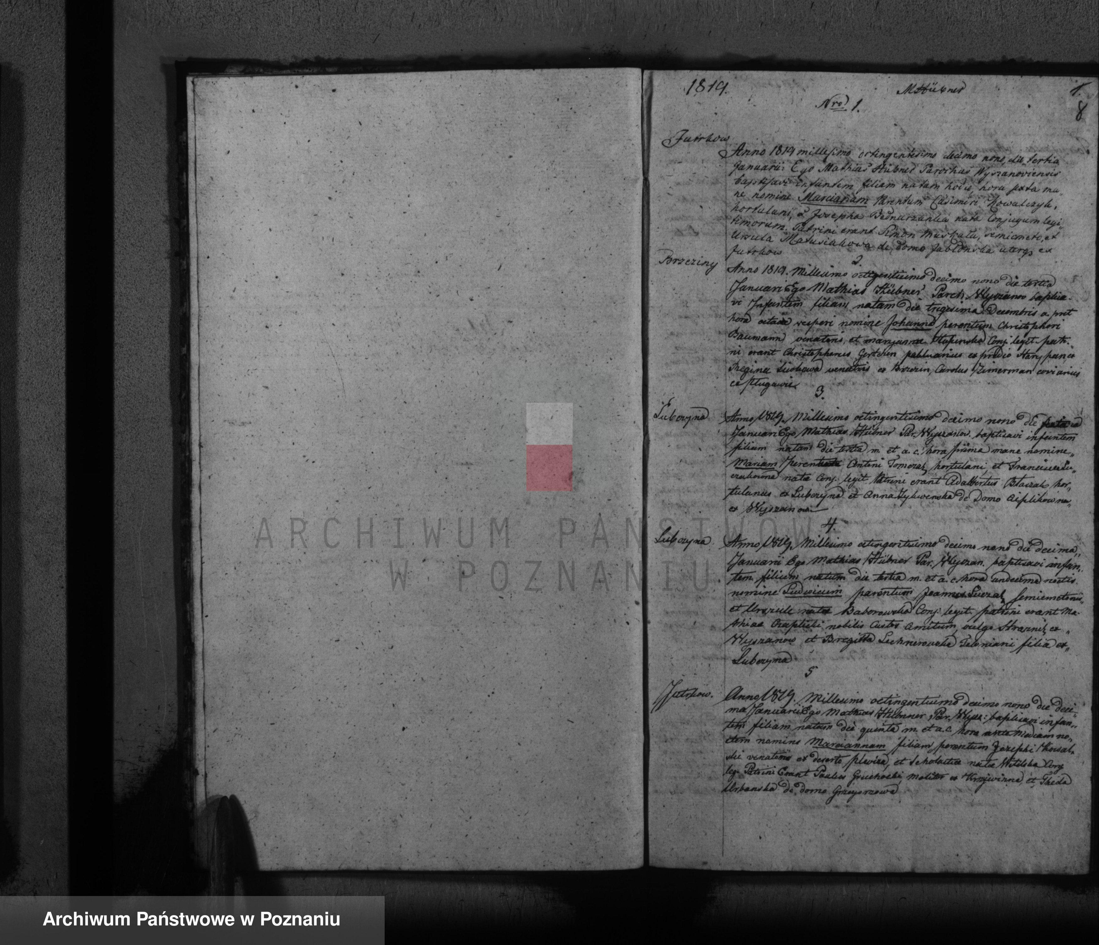 Skan z jednostki: Księga ślubów, chrztów i pogrzebów