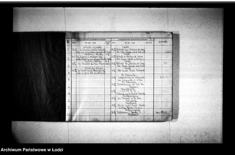 """Obraz z jednostki """"Tagebuch [Dziennik przychodzącej i wychodzącej korespondencji]"""""""