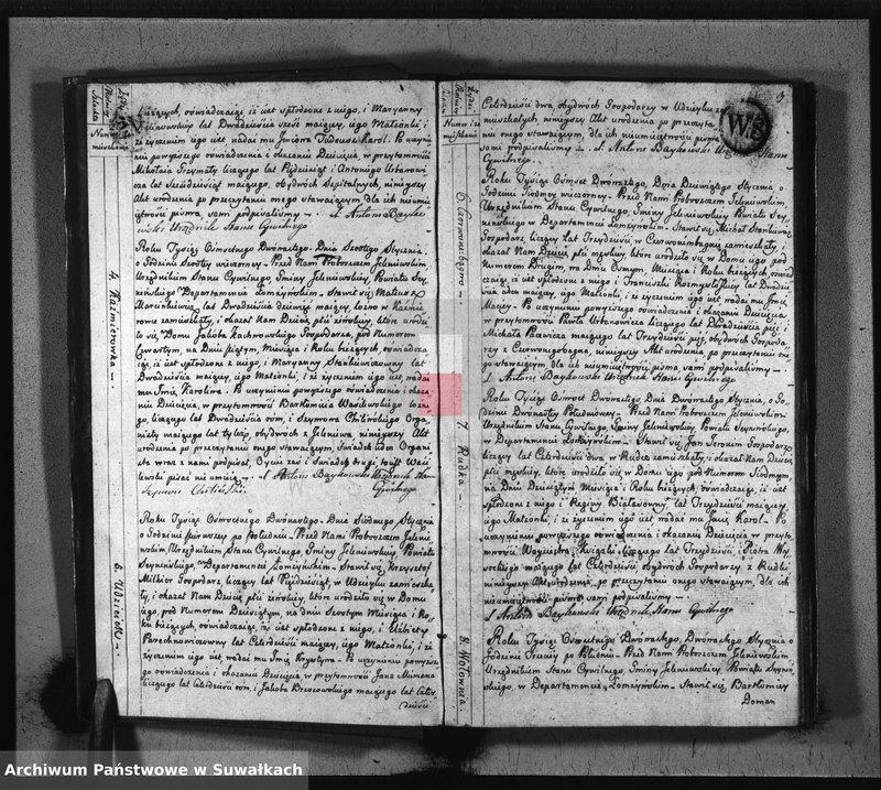 """image.from.unit """"Akta Stanu Cywilnego Urodzonych w Gminie Jeleniewo od 1-go Stycznia 1812 Roku."""""""