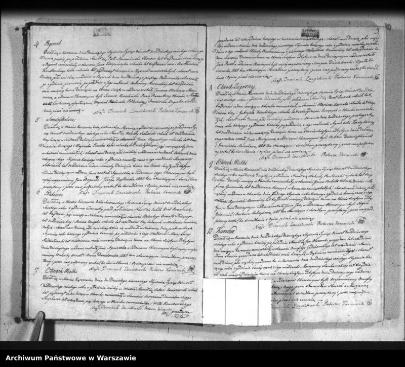 """Obraz 4 z jednostki """"Akta urodzeń, małżeństw i zgonów"""""""