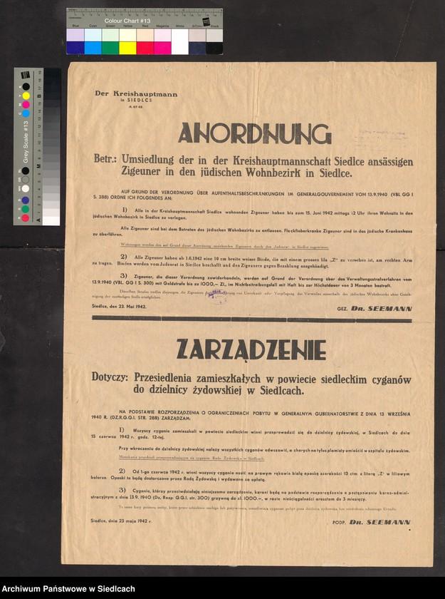 """Obraz 2 z kolekcji """"Afisze okupacyjne powiatu siedleckiego 1939-1944"""""""
