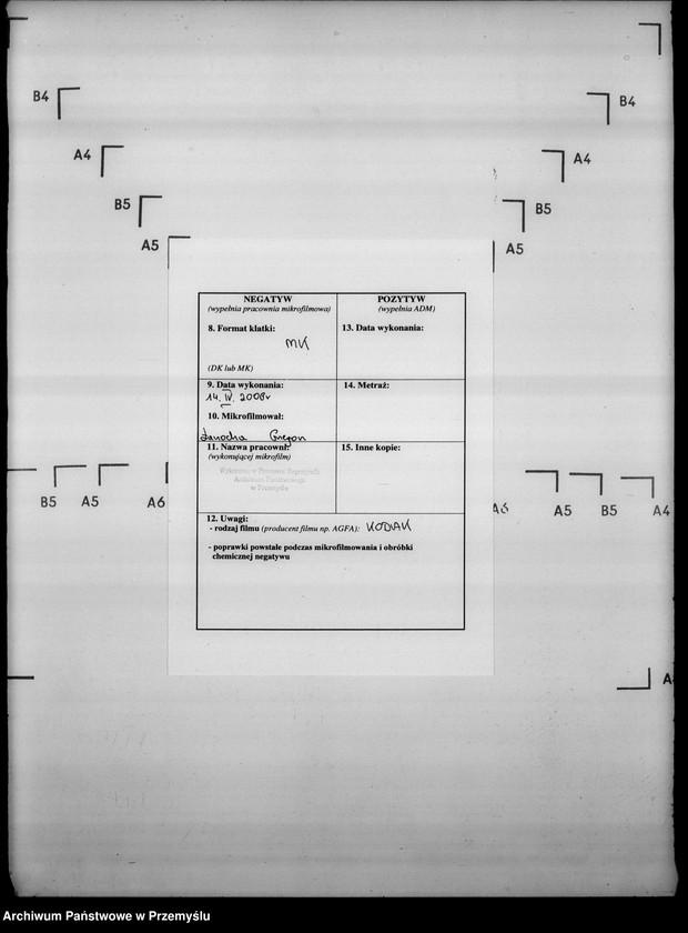 """Obraz 3 z jednostki """"Sumariusze miejscowe [spisy ludności i spisy koni dla celów wojskowych]"""""""