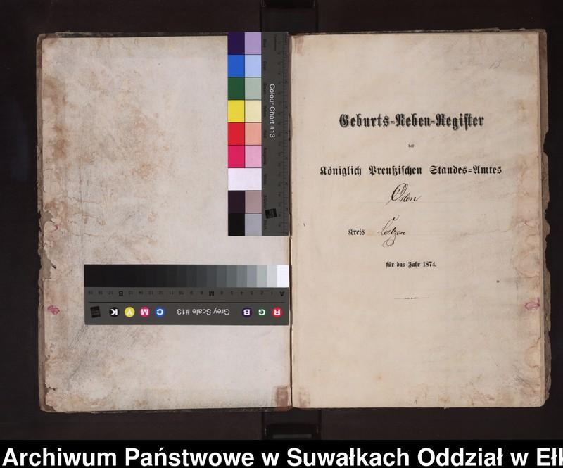 """Obraz z jednostki """"Geburts-Neben-Register des Preussischen Standes-Amtes Orlen Kreis Loetzen"""""""