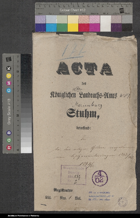 """Obraz 2 z jednostki """"Akten bei den ortligen Gütern vorgekommenen Besitzveränderungen"""""""
