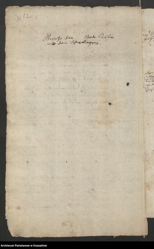 """Obraz 12 z kolekcji """"Granice miasta Koszalina. Tom I: 1558-1689 [odpis dokumentu z 1337 roku]"""""""