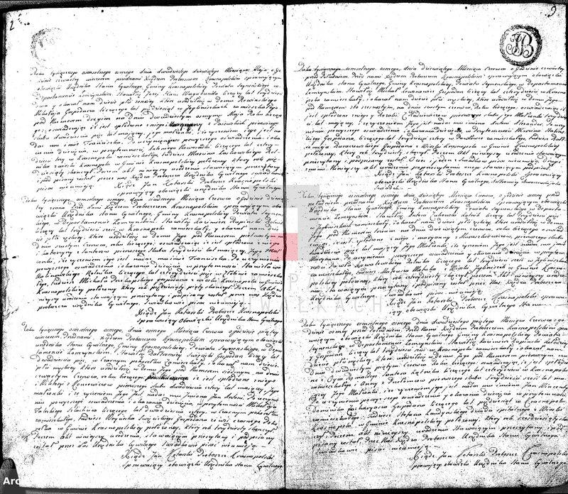 """image.from.unit """"Akta Cywilne Urodzonych Gminy Krasnopolskiey Powiatu Seyneńskiego Departamentu Łomżyńskiego od R.1808 Maia."""""""
