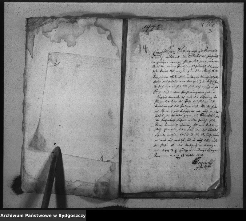"""image.from.unit """"Duplicat des Kirchenbücher der evangelischen Kirche zu Inowraclaw enthëlt die Verzeichniss der Geborenen, Verstorbenen und Copulirten vom 1 januar 1818 bis zum 1 Maerz 1820"""""""