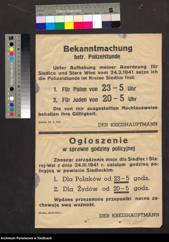 """Obraz 5 z kolekcji """"Afisze okupacyjne powiatu siedleckiego 1939-1944"""""""