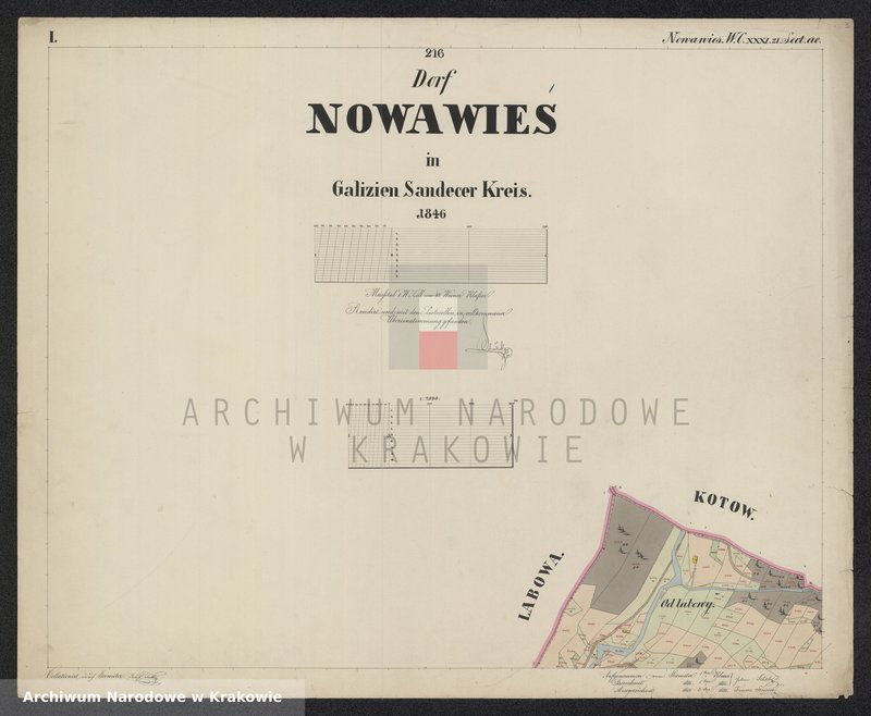 """Obraz 4 z jednostki """"216 Dorf Nowa Wieś in Galizien Sandecer Kreis"""""""