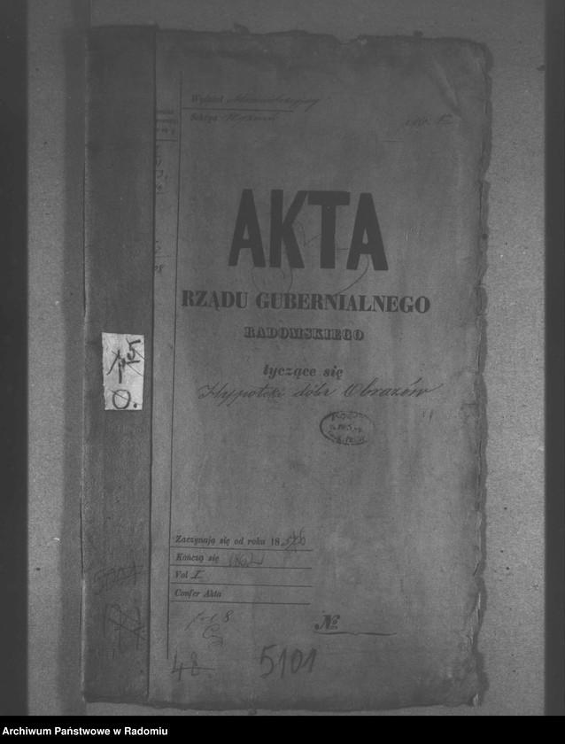 """Obraz z jednostki """"Regulacji hipoteki dóbr Obrazów"""""""