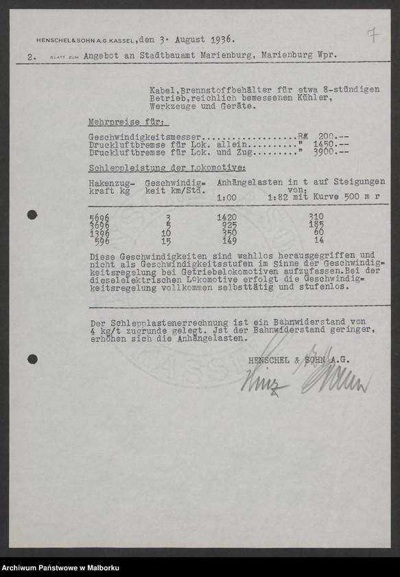 """Obraz 10 z jednostki """"Lokomotivbedarf [Przetarg na zakup lokomotywy elektrycznej Typ D El 110 Dokumentacja firmy Henschel und Sohn AG w Kassel]"""""""
