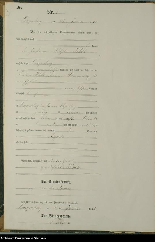 """Obraz z jednostki """"Geburts-Neben-Register Nr 1 - 53"""""""