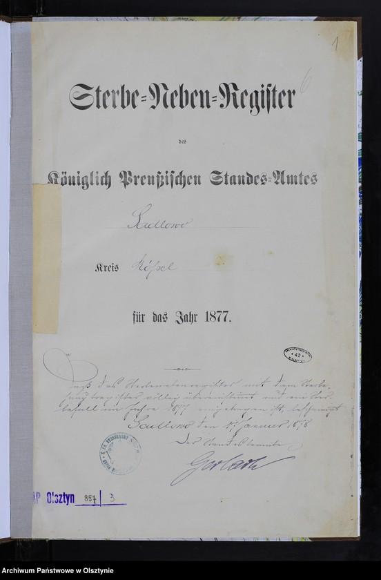 """image.from.team """"Urząd Stanu Cywilnego w Sadłowie pow. biskupiecki (dawny pow. reszelski)"""""""