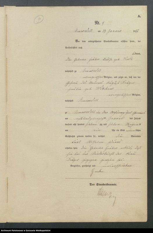"Obraz 11 z jednostki ""Geburts Register"""