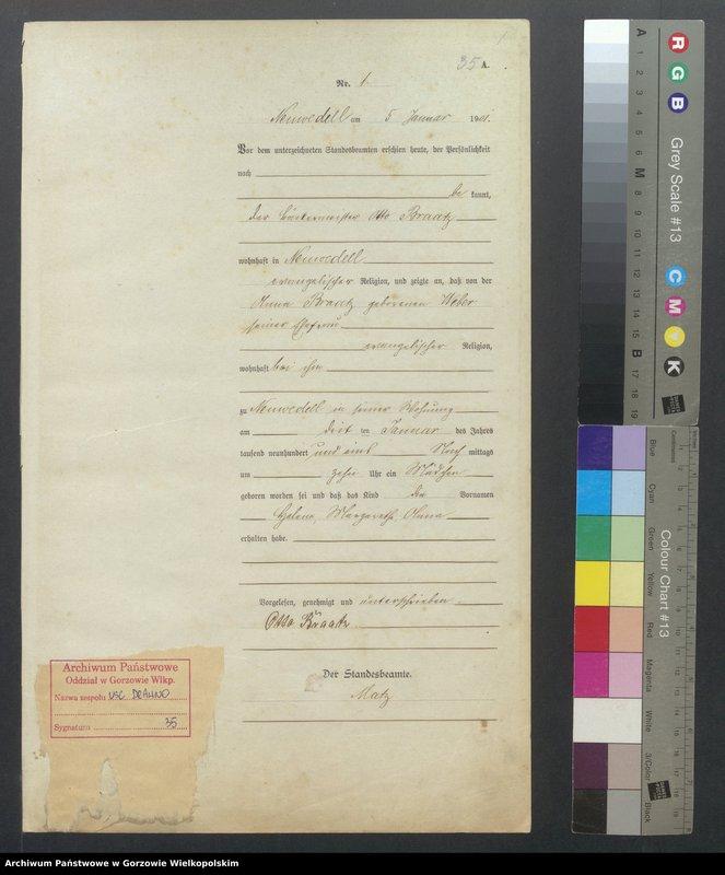 "Obraz 3 z jednostki ""Geburts Register"""