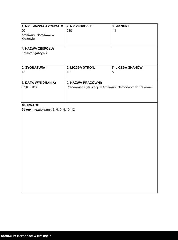 """Obraz 2 z jednostki """"217 Dorf Pierszchów [Pierzchów] sammt Enclave Pierszchowiec [Pierzchowiec] in Galizien Bochnier Kreis"""""""