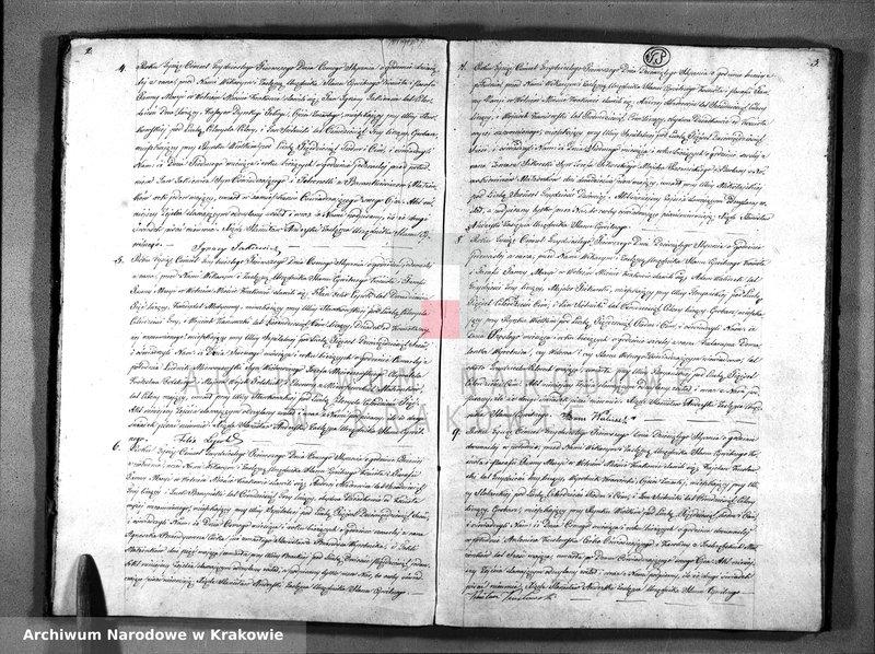 """Obraz z jednostki """"Akta Zejścia Stanu Cywiln: Parafii Panny Maryi z Roku 1831"""""""