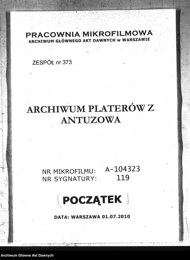 """image.from.team """"Archiwum Platerów z Antuzowa"""""""