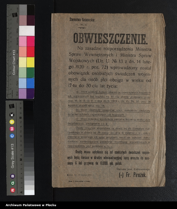 """Obraz 6 z kolekcji """"plakaty z wojny polsko-bolszewickiej"""""""