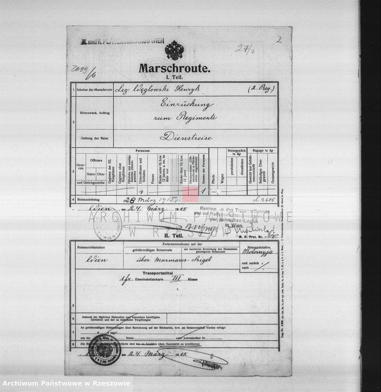 """Obraz 8 z kolekcji """"Legiony Polskie w zbiorach AP Rzeszów"""""""