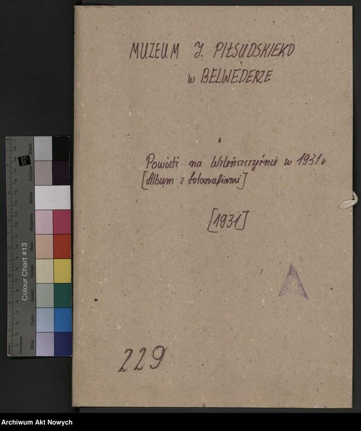 """Obraz 2 z jednostki """"Powódź na Wileńszczyźnie w 1931 r. Album z fotografiami."""""""