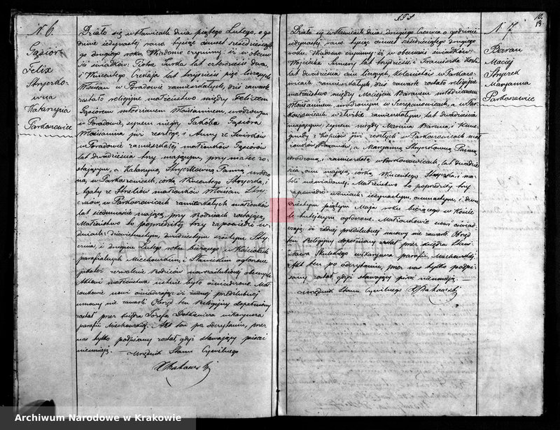 """Obraz z zespołu """"Akta stanu cywilnego Parafii Rzymskokatolickiej w Sławicach"""""""