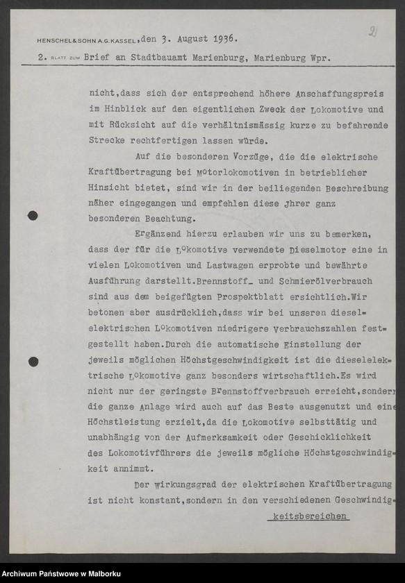 """Obraz 5 z jednostki """"Lokomotivbedarf [Przetarg na zakup lokomotywy elektrycznej Typ D El 110 Dokumentacja firmy Henschel und Sohn AG w Kassel]"""""""