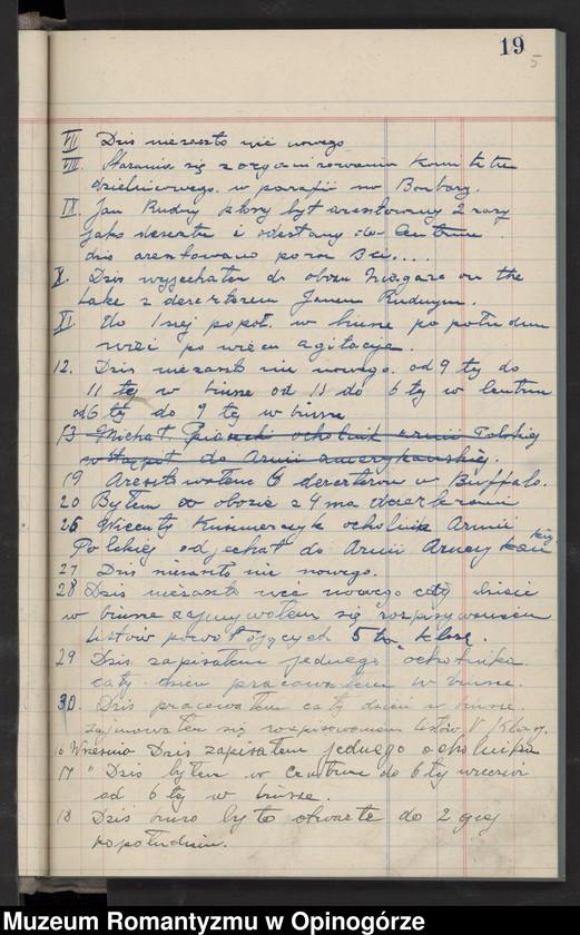"""Obraz 8 z jednostki """"Księga raportów dziennych Stacji nr 3 w City Stall. (Rekrutacja do Armii Hallera)."""""""