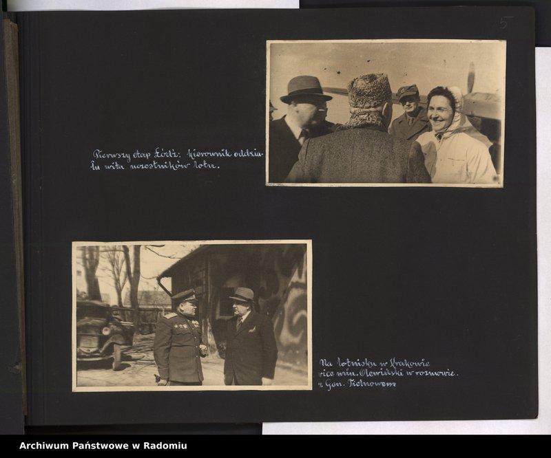 """Obraz 6 z jednostki """"[Album fotograficzny dokumentujący reaktywowanie krajowych połączeń lotniczych przez Polskie Linie Lotnicze """"Lot""""]"""""""