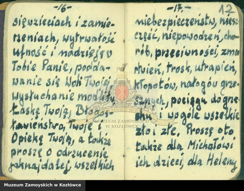 """Obraz 3 z kolekcji """"Modlitewnik z Dachau Aleksandra Zamoyskiego"""""""