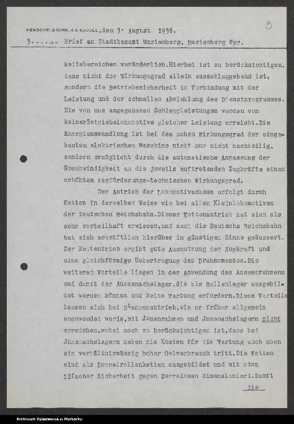 """Obraz 6 z jednostki """"Lokomotivbedarf [Przetarg na zakup lokomotywy elektrycznej Typ D El 110 Dokumentacja firmy Henschel und Sohn AG w Kassel]"""""""