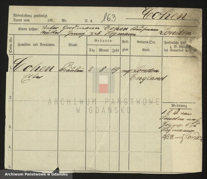 """image.from.collection.number """"Genealogia - kartoteka meldunkowa"""""""
