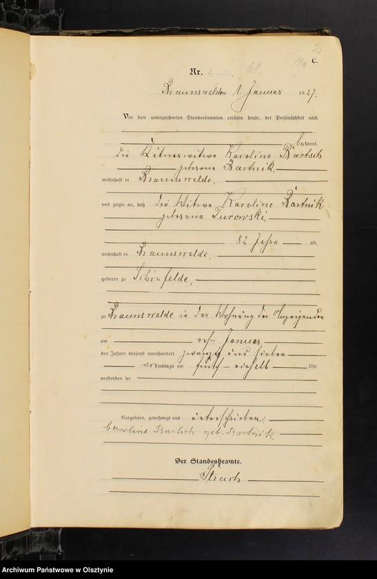 """Obraz z jednostki """"Sterbe-Haupt-Register Nr 1-34, 1-28, 1-33, 1-27, 1-36, 1-30, 1-34"""""""